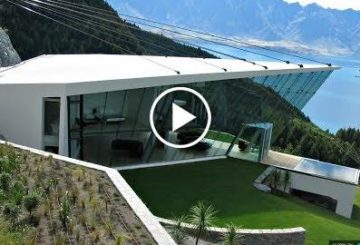 futuristic  modicum  home WITH 270-Degree pantomime Views in Queenstown New Zealand