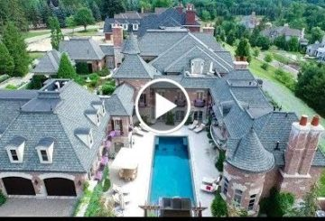 ma 14,500 SQ.FT. $10 million 6 Bed 9 bathymetry 8 Car Garage homelike in Michigan USA