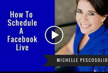 How to scheduler a Facbook live wired