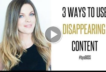 How to Use Disappearing contents for