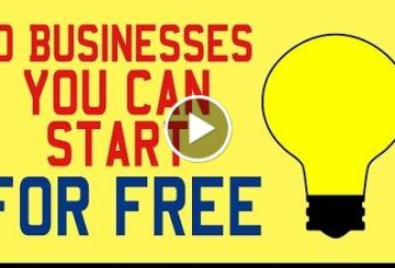 10 Bussinesses You can Start For Free