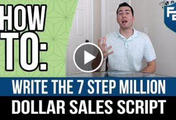 How To Write The 7 Step 1E6 Dollar Sales Script