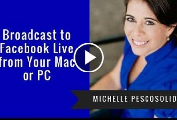 Broadcasts to Facebk LIVE From Youse Mac or PC