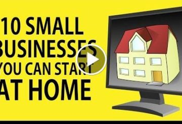 10 SMALL BUSINESSES You Can Starting at HOME
