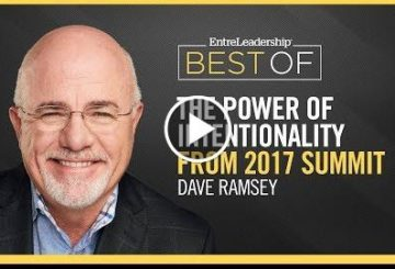 The Power of Intentionality | Dave  | EntreLeadership Best Of