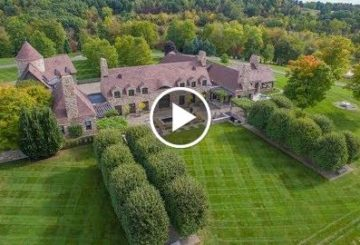 Impessive $10 Million French-Style 5 Bedroom 8 Bathroom Home on 90 Acres in New York USA