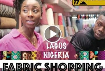 FABRIC SHOPPING | LAGOS NIGERIA | COME TO WORK |DEMI O.