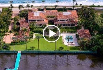 Sprawling $59 Million 25,000 SQ FT 11 Bed 8 Bath Mediterranean Home in Palm Beach Florida USA